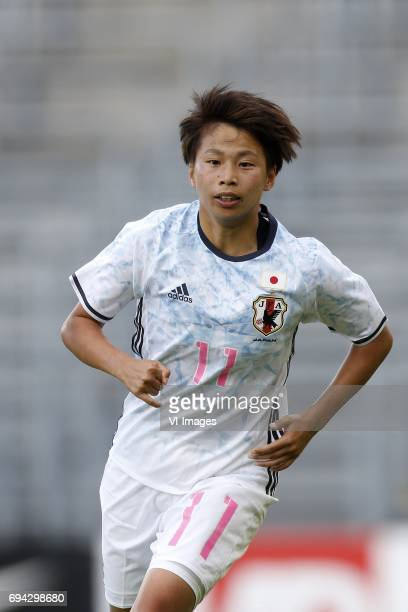 Mina Tanaka of Japanduring the friendly match between the women of The Netherlands and Japan at the Rat Verlegh stadium on June 9, 2017 in Breda, The...