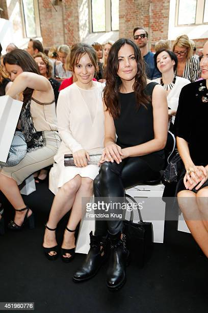 Mina Tander and Bettina Zimmermann attend the Schumacher show during the MercedesBenz Fashion Week Spring/Summer 2015 at Sankt Elisabeth Kirche on...