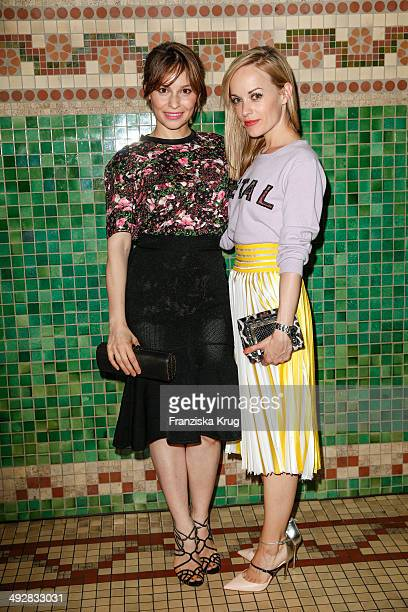 Mina Tander and Friederike Kempter attend the Jimmy Choo mytheresacom Dinner In Berlin on May 21 2014 in Berlin Germany