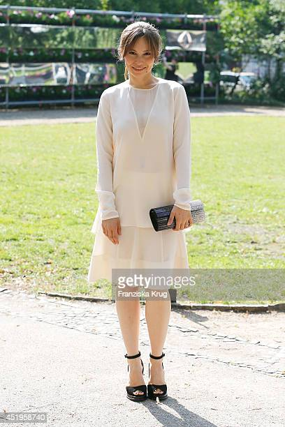 Mina Tander attends the Schumacher show during the MercedesBenz Fashion Week Spring/Summer 2015 at Sankt Elisabeth Kirche on July 10 2014 in Berlin...