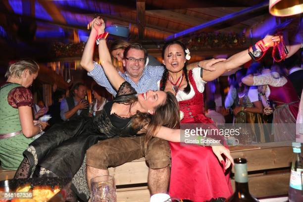 Mina Tander, Claus Strunz and Nadja Pia Wagner during the opening of the Oktoberfest 2017 at Kaeferschaenke at Theresienwiese on September 16, 2017...