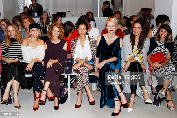 Mina Tander Julia Dietze Chiara Schoras Gizem Emre Franziska Knuppe Johanna Klum and Anna Angelina Wolfers attend the Laurel show during the...