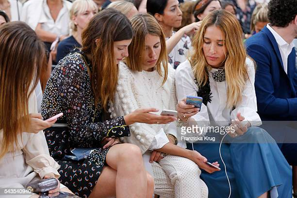 Mina Tander Melina Martin and Maja Wyh attend the Dorothee Schumacher show during the MercedesBenz Fashion Week Berlin Spring/Summer 2017 at...