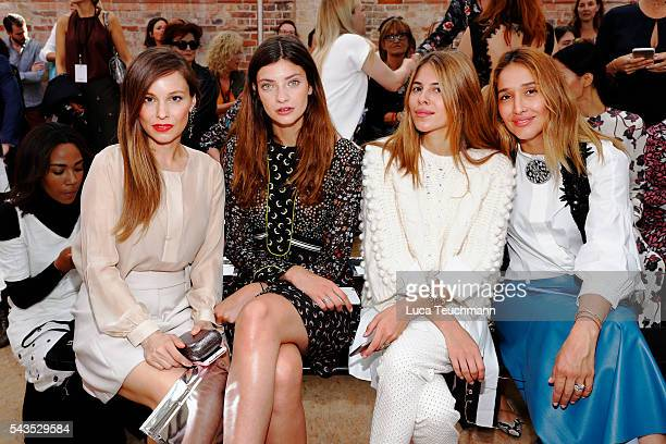 Mina Tander Melina Martin Maja Wyh and Tiany Tiriloff attend the Dorothee Schumacher show during the MercedesBenz Fashion Week Berlin Spring/Summer...