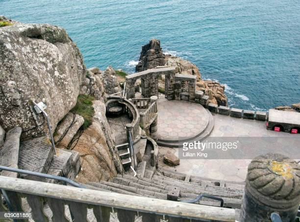 minack outdoor theatre - minack theatre stock pictures, royalty-free photos & images