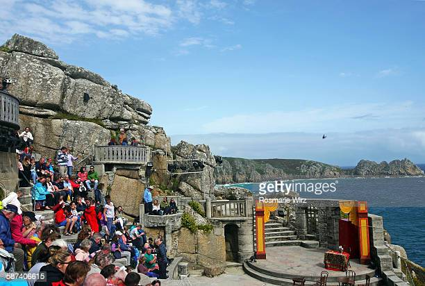minack theatre, cornwall - minack theatre stock pictures, royalty-free photos & images