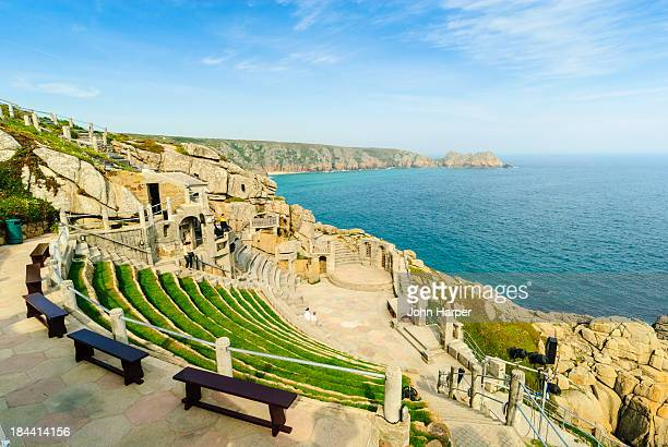 minack theatre, cornwall, uk. - minack theatre stock pictures, royalty-free photos & images