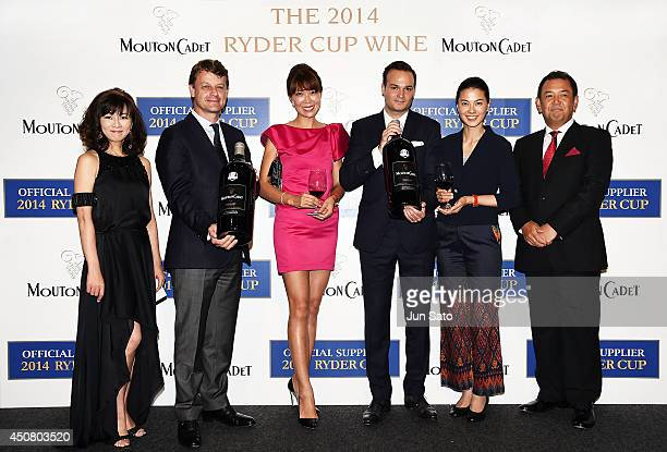 Minako Nagai CEO of Baron Philippe de Rothschild Hugue Lechanoine guest Representative Director Asia of Baron Philippe de Rothschild SA Anthony...