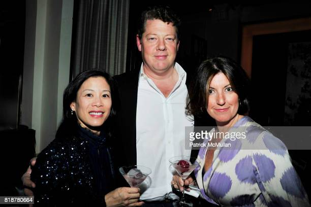 Minalie Chen David Sherrill and Mary Alice Sherrill attend 'BURGUNDY BORDEAUX BLUE JEANS BLUES' A Casual Sunday Supper at DANIEL for the benefit of...