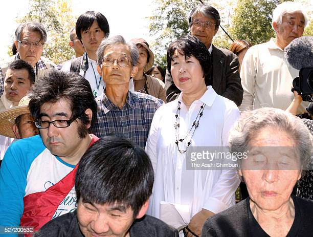 Minamata disease patients and family members attend a memorial ceremony on May 1 2016 in Minamata Japan On May 1 the head of the hospital in the city...