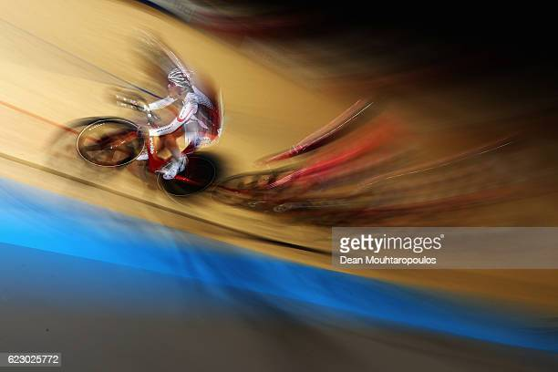 Minami Uwano of Japan competes in the Women's Points Race Final during the Tissot UCI Track Cycling World Cup 20162017 held at the sport centre...