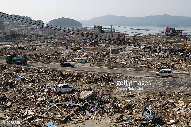 Minamisanriku town that was devastated by the earthquake and tsunami that hit northeastern Japan on March 11 2011