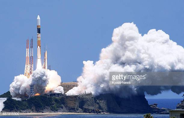 Minamitane Japan Japan's H2A rocket carrying the land observing satellite Daichi2 lifts off from Tanegashima Space Center in the southwestern...
