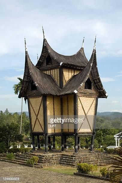 minangkabau house near bukittinggi sumatra indonesia picture