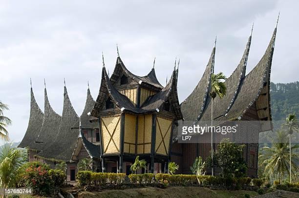 Minangkabau house near Bukittinggi Sumatra Indonesia