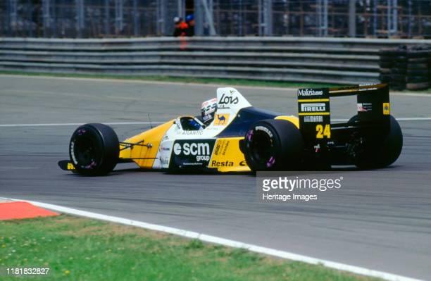 Minardi Ford DFR M189 LuisPerez Sala 1989 British Grand Prix Creator Unknown