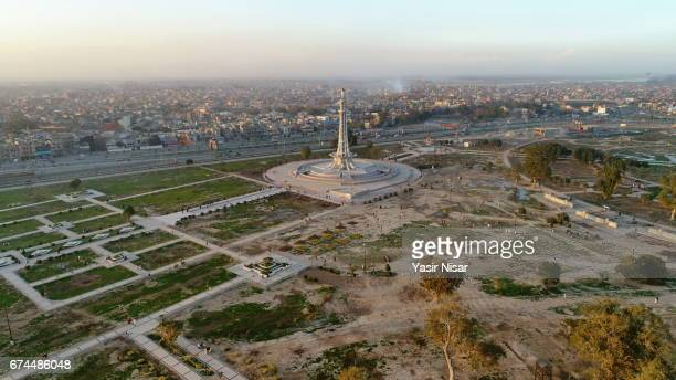 minar-e-pakistan, lahore, pakistan - minar e pakistan stock pictures, royalty-free photos & images