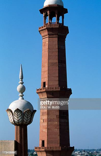 Minaret of Badshahi Mosque or the Royal Mosque or the Royal Mosque Lahore Pakistan