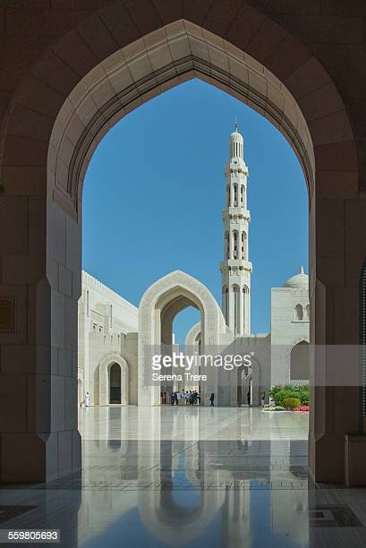 Minaret of Sultan Qaboos Mosque in Muscat, Oman