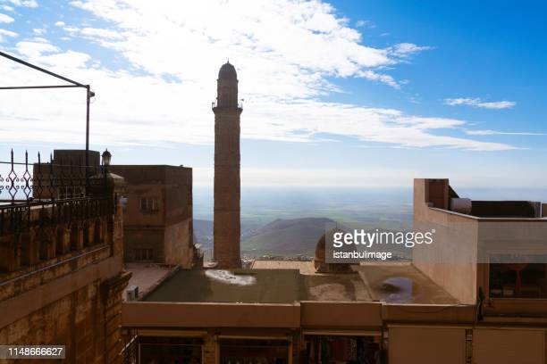 Minaret of the Great Mosque known also as Ulu cami in Mardin