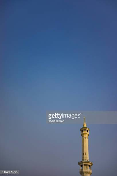 Minaret of the great mosque of Mecca, also called the Grand Mosque, is the largest mosque in the world, and surrounds Islam's holiest place, the Kaaba
