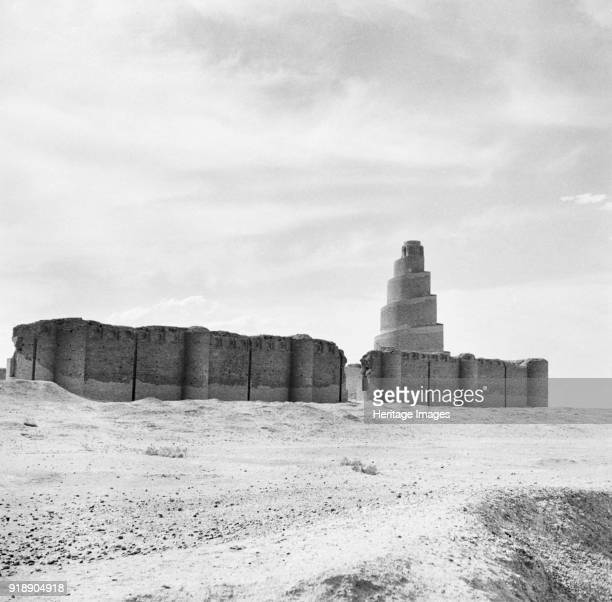 Minaret of the Great Mosque of Samarra Iraq Once the capital of the Abbasid Caliphate in the 9th century CE The famous spiral minaret of the Great...