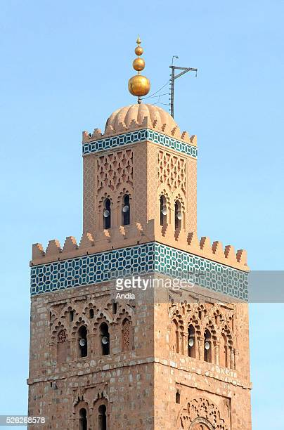 Minaret of the Koutoubia mosque in Marrakech Morocco