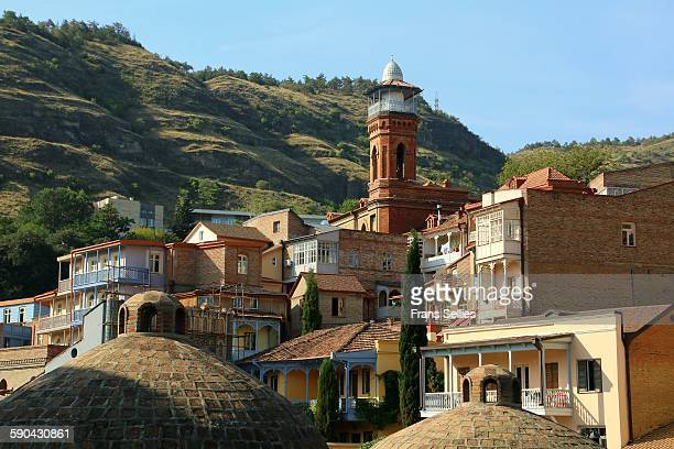 Minaret of the mosque and bathhouse in old Tbilisi
