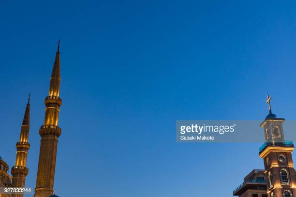 minarets and bell tower