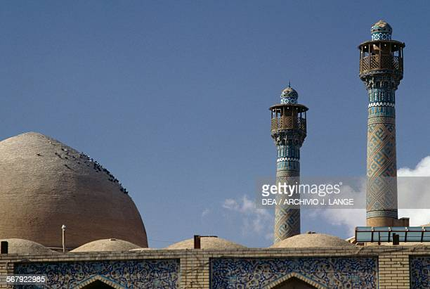 Minarets and dome of the Jameh Mosque Isfahan Iran 12th century