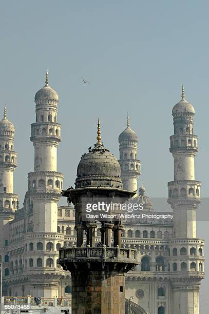 minarets, hyderabad - dave wilson webartz stock pictures, royalty-free photos & images