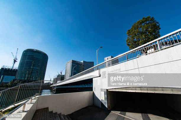 Minato Mirai Great Bridge connecting Yokohama Portside and Minato Mirai area in Kanagawa prefecture in Japan