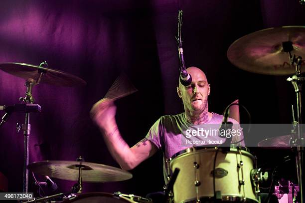 Mince Fratelli of The Fratellis performs on stage at The Liquid Room on November 7 2015 in Edinburgh Scotland