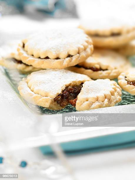 Mince Pies on a Glass Plate