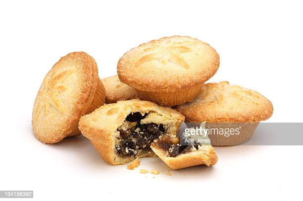 Mince pies on white
