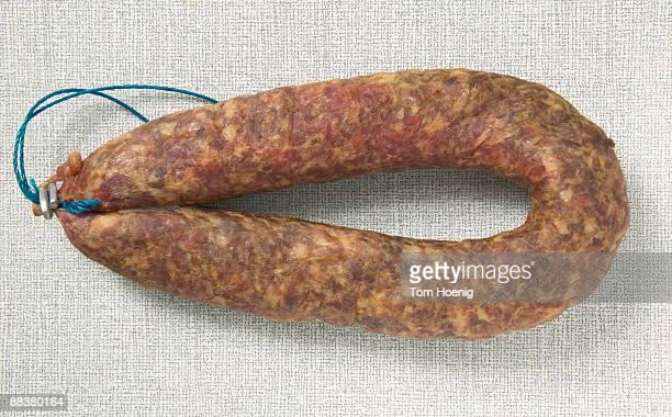 Minced meat sausage, close-up