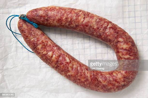 Minced meat sausage, elevated view