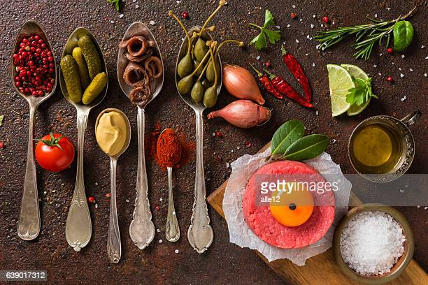 Minced meat with ingredients