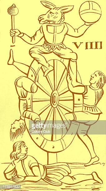 Minchiate card Minchiate was a late medieval Italian card game closely related to the game of tarot This card is numbered IX and is called 'Wheel of...