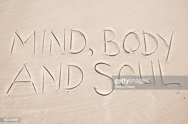 Mind Body and Soul Smooth Sand Message on Beach