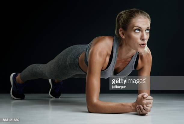 mind on a fitness mission - plank exercise stock pictures, royalty-free photos & images