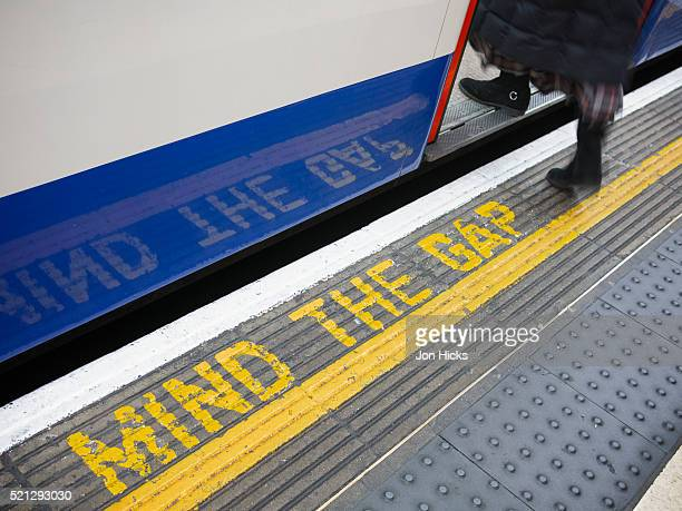 Mind the gap on the London Underground.