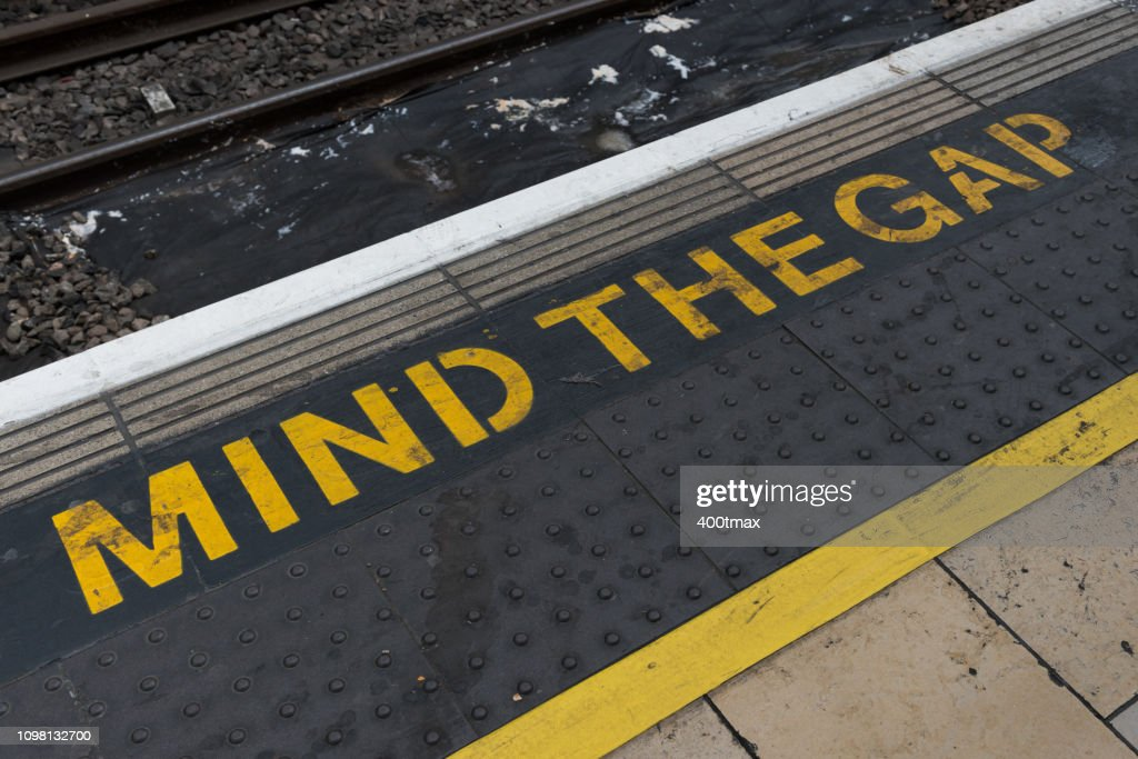 Mind The Gap : Stock Photo