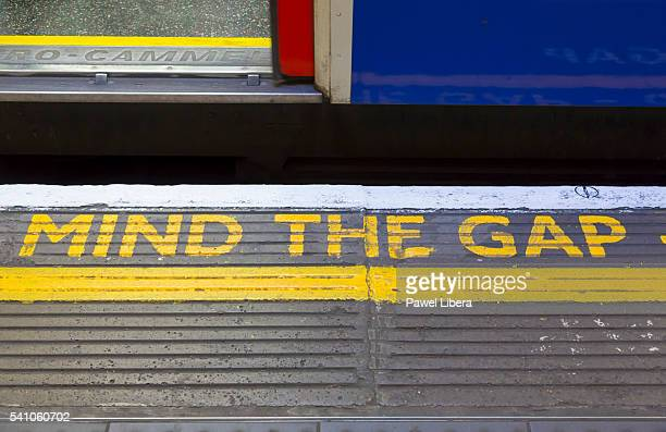 'Mind the Gap' sign on London Underground
