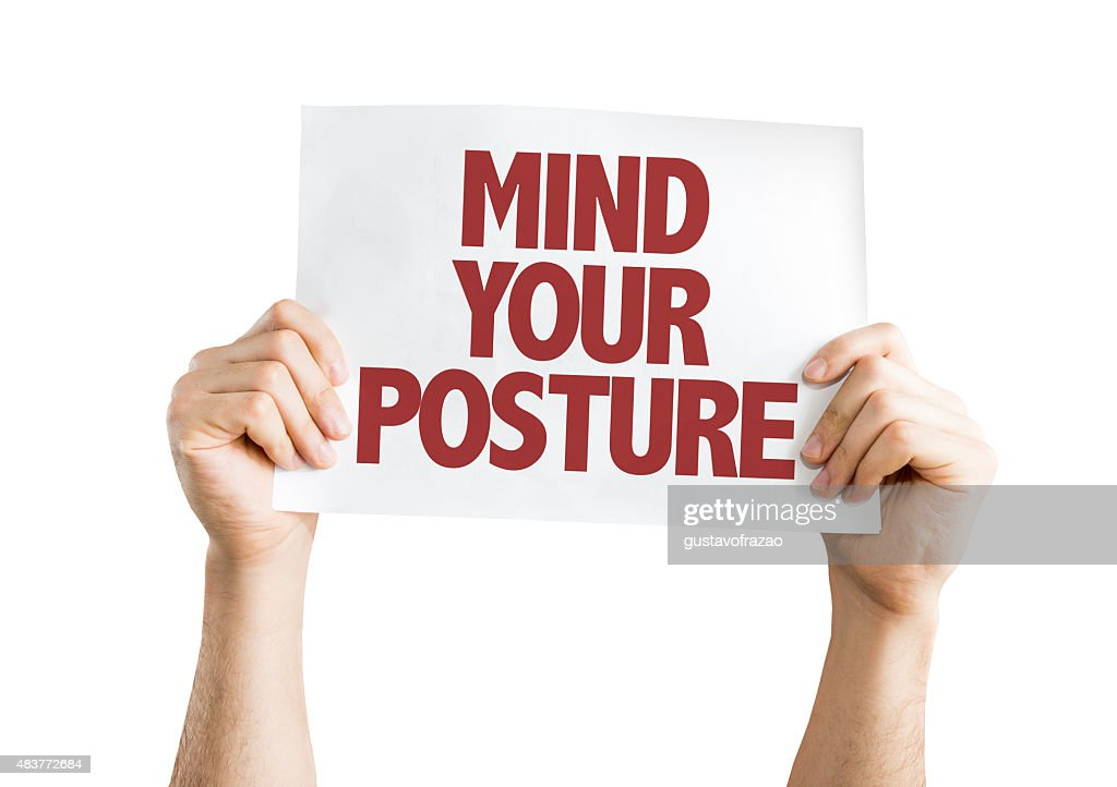 Mind Your Posture card isolated on white