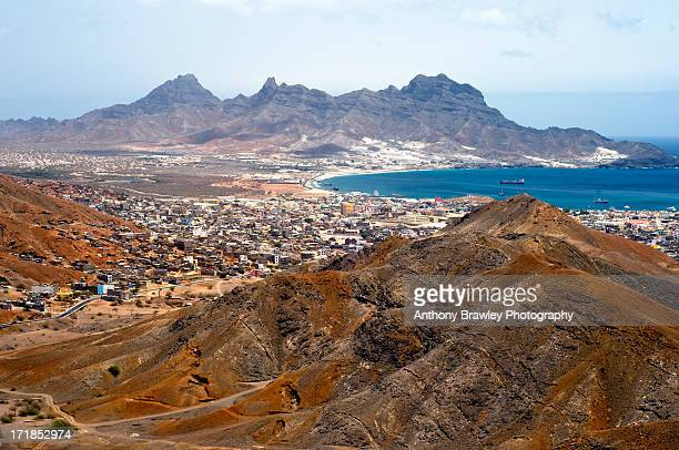 mindelo (sao vicente) cityscape - cape verde stock pictures, royalty-free photos & images