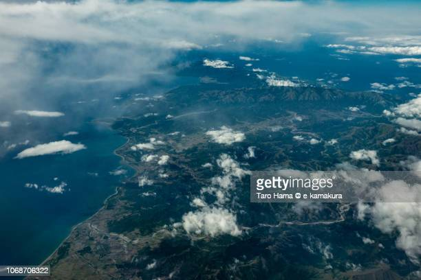 Minder Island in Province of Occidental Mindoro in Philippines daytime aerial view from airplane