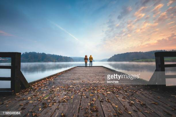 mindfulness - contemplation couple stock pictures, royalty-free photos & images