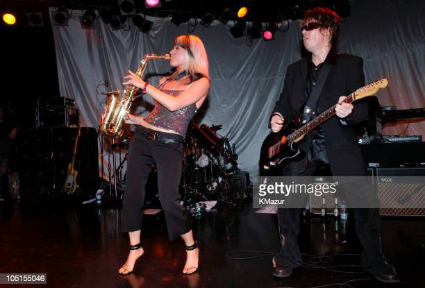 Mindi Abair and Andy Taylor perform live at The Roxy at the Duran Duran show presented by DKNY Jeans and The Fader
