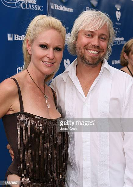 Mindi Abair and Jason Steele during Gibson and Baldwin Host 2006 Night at the Net Red Carpet at Los Angeles Tennis Center in Los Angeles California...